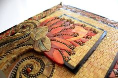 flower mosaic by Lin Schorr