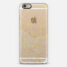 Ab Half and Half Gold Transparent - Classic Snap Case