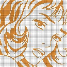 0 point de croix femme façon bande dessinée - cross stitch comic strip lady
