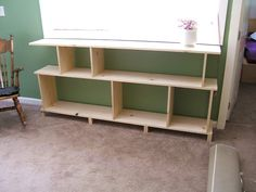 Nine Red: DIY Modern Bookshelf -- TV stand?