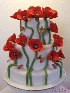 Poppies wedding cake!