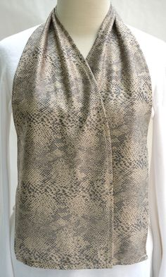 Awesome Snakeskin Print Cravaat   DinerWear Dining Scarf As Adult Bib