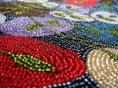 Last weeks shift back to cloudy skies and dark days (and yes, even more snow) left me completely uninspired to keep my posts up for the photo challenge. Bead Crafts, Beaded Embroidery, Textile Design, Seed Beads, Beaded Jewelry, Embellishments, Textiles, Crafty, Sewing