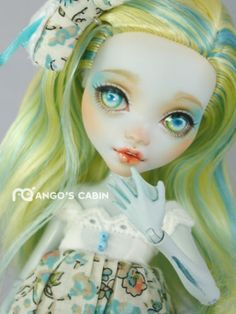 """Monster High Repaint Custom OOAK """"April"""" with Handmade Outfit by Mango's Cabin"""