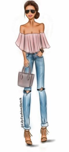 Fashion Illustration Girl Face 28 Ideas For 2019 Fashion Illustration Sketches, Fashion Design Sketches, Illustration Girl, Sketch Fashion, Drawing Fashion, Trendy Fashion, Fashion Art, Girl Fashion, Fashion Ideas