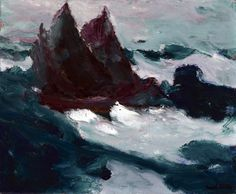 Emil Nolde, Stormy Sea II (Two Sailing Boats Together), 1914.
