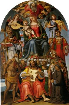 TICMUSart: Madonna and Child with Saints - Luca Signorelli (I.M.)