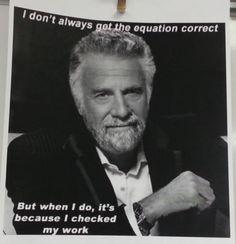 A cute poster from a Cedar Creek High School math class:-)