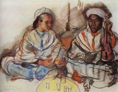 Imagen de https://artoftherussias.files.wordpress.com/2012/01/marrakech-musicians-arab-and-negro-1928.jpg.