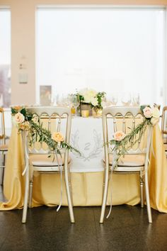Gilded bride and groom chairs: http://www.stylemepretty.com/2014/10/29/multicultural-chicago-art-museum-wedding/ | Photography: Olivia Leigh - http://olivialeighphotographie.com/