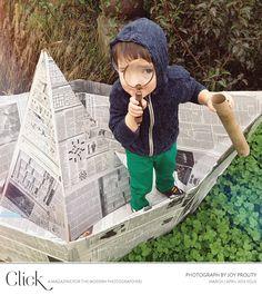 Make a DIY newspaper boat for kids