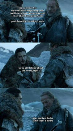 Oh, Jorah. Your level of friendzone cannot be expressed in words...only an insessent stream of incoherent strangled noises.