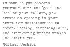 Morihei Ueshiba on Maliciousness
