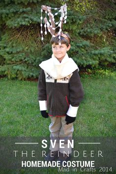 Homemade Sven the Reindeer Costume- I made the ice crystals like this to add to Ryan's costume. Helped distinguish him as Sven, instead of just any old reindeer. Halloween Apron, Great Halloween Costumes, Halloween This Year, Homemade Halloween, Halloween Projects, Diy Costumes, Costume Ideas, Halloween Ideas, Halloween 2019