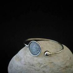 bangle phaistos disc c shape bangle sterling silver 925
