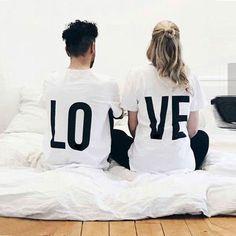"T-shirt couple ""Love"""