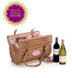 Beautiful picnic basket, easier to carry!! And I think i would probably use this is a general bag too!