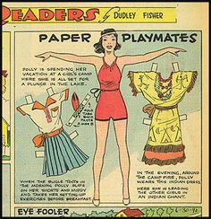 Readers Paper Playmates 6-30-40 Polly *** Paper dolls for Pinterest friends, 1500 free paper dolls at Arielle Gabriel's International Paper Doll Society, writer The Goddess of Mercy & The Dept of Miracles, publisher QuanYin5