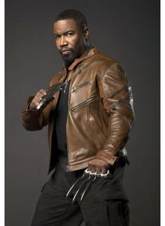 Buy arrow michael jai brown leather jacket online from Uk Collectionz available in all sizes made by high quality PU and real Leather. Michael Jai White, Arrow Tv Series, Supergirl 2015, Blood And Bone, Team Arrow, Black Lightning, Martial Artists, The Villain, Bruce Lee