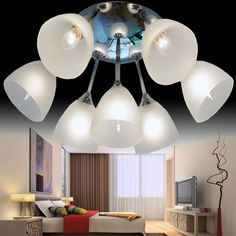Simple Modern Glass Bedroom Ceiling Lamp Fashion Study Room Ceiling Lamp Dining Room Ceiling Lamp