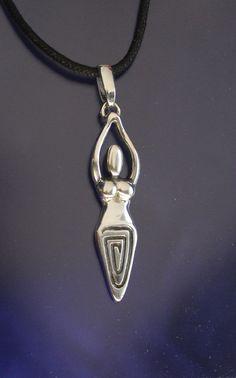 Venus Goddess Pendant Sterling Silver Handmade by RichieStubStudio on Etsy