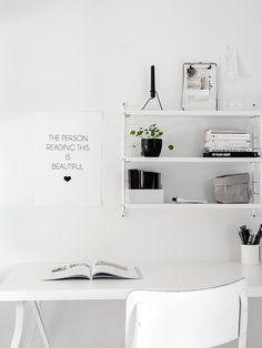 Monochrome workspace