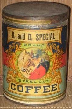 Vintage Packaging, Coffee Packaging, Vintage Advertising Signs, Vintage Advertisements, Vintage Tins, Vintage Coffee, Coffee Vending Machines, Shabby, Coffee Tin