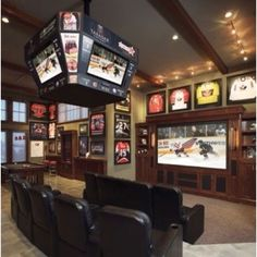 Cool game room for the boys