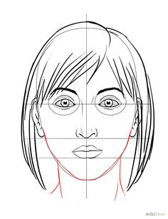 Draw a Face - wikiHow. Don't know when I would ever need this but just thought it was neat. Illustration Sketches, Portrait Illustration, Doodle Drawings, Face Drawings, Human Face Drawing, Learn To Draw, Colored Pencils, Drawing People, Drawing Tips