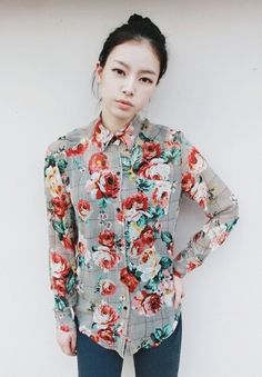 i really like the floral print on this button up and i'm really picky about my floral prints.