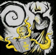 The Yellow King by Shawn Coss Dark Fantasy, Fantasy Art, Blackwork, Call Of Cthulhu Rpg, Lovecraftian Horror, Eldritch Horror, Dark Drawings, Hp Lovecraft, Mellow Yellow