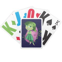 Bleccch! Bicycle Playing Cards | Disney Inside Out Movie