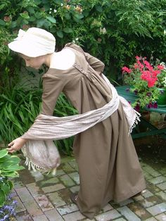 Girl's Regency Dress Back  | Sense & Sensibility Patterns