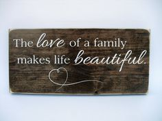 Rustic Wood Sign Wall Hanging Home Decor The by InTheDustDesigns Family Wood Signs, Family Name Signs, Rustic Wood Signs, Wooden Signs, Rustic Charm, Dark Wood, Gifts For Family, Wall Signs, House Warming