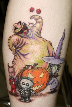 Nightmare Before Christmas tattoo by ~Mulysa on deviantART #halloween