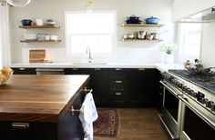 chris loves julia-plank-style island/black walnut