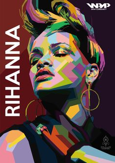 Rihanna with short hair Pop Art Illustration, Portrait Illustration, Pop Art Portraits, Portrait Art, Voka Art, Pop Art Dibujos, Pop Art Wallpaper, Art Anime, Vector Portrait