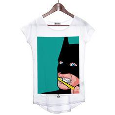 »Secret Life Of Superheroes« Design by Greg Guillemin * Never Tell Your Tailor Bat Brush tee shirt 39,9€ #batman #superhero #tee