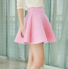 Cute skirt! Only if it was longer because let's face it those who have butts will have some indecent exposure in the back.