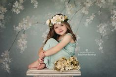 Spring Blossoms 2 ~ Love this Photography Backdrop from Baby Dream Backdrops.