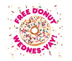 DD Perks® members can get a free donut with the purchase of any beverage every Wednesday from March 24 through April 21. Dd Perks, Loyalty Marketing, Donut Flavors, Strawberry Frosting, Espresso Shot, Free Coupons, April 21, March, Mac