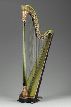 Vintage  harp. A very elegant instrument.