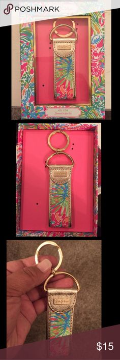 LILLY PULITZER KEY FOB🎀🔑 New Lilly Pulitzer key fob. Gold ring, new in box. Lilly Pulitzer Accessories Key & Card Holders