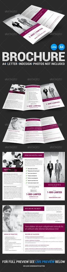 Law Firm Tri-Fold Brochure #template #layout