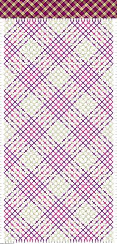 Gingham freindship bracelet pattern, 40 strings 80 rows 3 colors