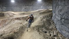 Louisville's Mega Cavern Mountain Bike Park - Don't worry about the weather.  Ride the first underground mountain bike trail in the world!   #kentucky #mountainbiking #louisville