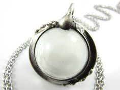oracle  crystal ball necklace by callistojewelry on Etsy
