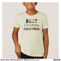 Shop Best Gardener (© Mira) T-Shirt created by Personalize it with photos & text or purchase as is! Best Birthday Gifts, Third Birthday, 5 Year Olds, 5 Years, Roses, Mens Tops, How To Make, T Shirt, Fun