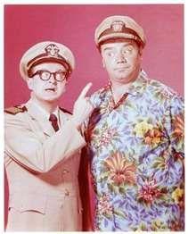 Joe Flynn (Captain Wallace Binghamton) and Ernest Borgnine (Lt. Quinton McHale) in McHale's Navy -- Mchale's Navy, Ephesians 5 11, Sid Caesar, Ernest Borgnine, Red Skelton, Hale Navy, Great Comedies, Abbott And Costello, Carol Burnett