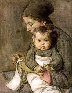 Mother and Baby Elizabeth Nourse
